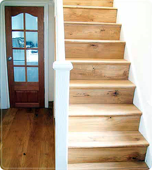 A Natural Wooden Staircase Is The Visual Centerpiece Of Any Home.